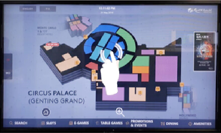 Interactive Digital Signage with Wayfinder Solution for Genting Resorts World