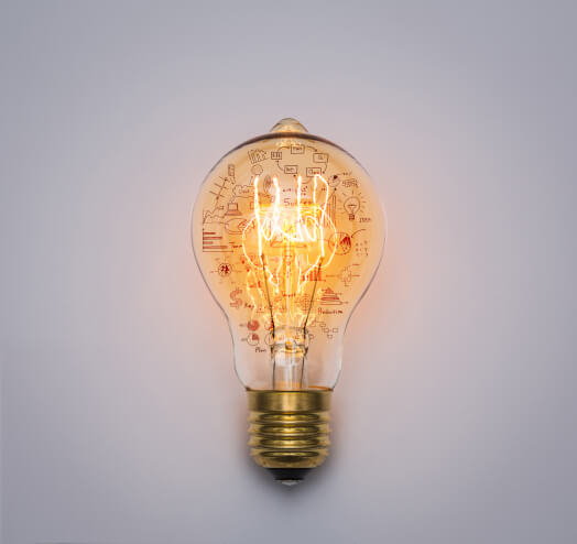 Light bulb to represent Innovation